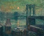 Живопись | Эрнест Лоусон | Brooklyn Bridge, 1910