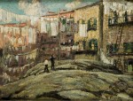 Живопись | Ernest Lawson | Harlem Flats (Back Lot Laundry)