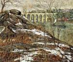Живопись | Ernest Lawson | Harlem River in winter, 1906