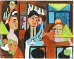 Живопись | Эрнст Людвиг Кирхнер | Café in Davos, 1928