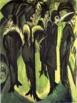 Живопись | Эрнст Людвиг Кирхнер | Пять женщин на улице, 1913