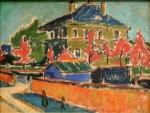 Живопись | Эрнст Людвиг Кирхнер | Villa in Dresden, 1910