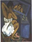 Живопись | Эрнст Людвиг Кирхнер | Woman before the Mirror, 1912