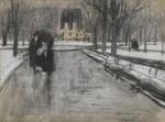 Живопись | Эверетт Шинн | Park Scene, 1899