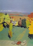Живопись | Fairfield Porter | Amherst Campus No. 1, 1969