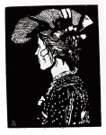 Живопись | Fritz Bleyl | Портрет Гертруды Таннерт в шляпе
