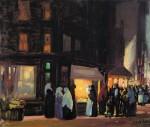 Живопись | Джордж Лакс | Bleeker and Carmine Streets, 1915