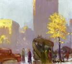 Живопись | Джордж Лакс | Fifth Avenue, New York, 1920