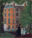 Живопись | George Luks | View of Beacon Street from Boston Common, 1923