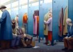 Живопись | George Tooker | The Waiting Room, 1959