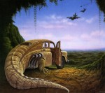 Живопись | Jacek Yerka | Mind Fields | Attack at Dawn