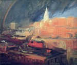 Живопись | John French Sloan | Rainbow, New York City, 1912