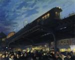 Живопись | John French Sloan | Six O'Clock, Winter, 1912