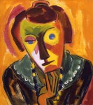 Живопись   Karl Schmidt-Rottluff   Portrait of Emy, 1919