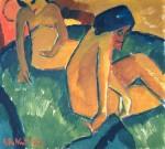 Живопись   Karl Schmidt-Rottluff   Two Women, 1912