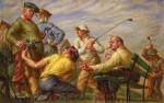 Живопись | Пол Кадмус | Aspects of Suburban Life: Golf, 1936