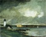 Живопись | Robert Henri | Pequot Light House, Connecticut Coast, 1902