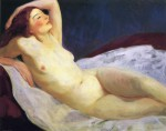 Живопись | Robert Henri | Reclining Nude (Barbara Brown), 1916
