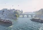 Живопись | Thierry Duval | Vol de pigeons sur la Seine