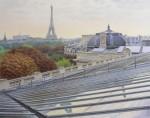 Живопись | Thierry Duval | Vue de la verrière du Grand Palais sur Paris
