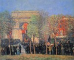 Живопись | William James Glackens | Italo-American Celebration, Washington Square, 1912