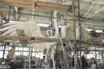 Скульптура | Пётр Анненков | Работа над скульптурой Аисты