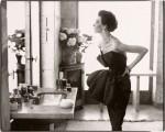 Фотография | Richard Avedon | Dorian Leigh, evening dress by Piguet, Helena Rubenstein's apartment, Île St. Louis, Paris, August 1949