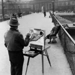 Фотография | Robert Doisneau | Le peintre sur le pont des arts