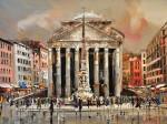 Живопись | Кэл Гаджум | Piazza della Rotonda, Roma