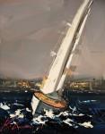 Живопись | Кэл Гаджум | Sailing Away