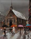 Живопись | Кэл Гаджум | Umbrellas of Québec