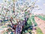 Живопись | Уильям Блэр Брюс | Fruit Trees in Bloom, Grez, 1894