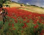 Живопись | Уильям Блэр Брюс | Landscape with Poppies, 1887