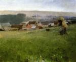 Живопись | Уильям Блэр Брюс | Rain in Giverny, 1887