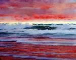 Живопись | Уильям Блэр Брюс | Stormy Red Sunset, 1900-06