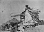 Живопись | Франсиско Гойя | Бедствия войны | Какое мужество!