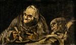 Живопись | Франсиско Гойя | Мрачные картины | Старики, поедающие суп
