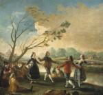 Живопись | Франсиско Гойя | Танцы на берегу реки Мансанарес