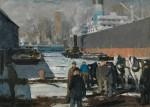 Живопись | George Bellows | Men of the Docks, 1912