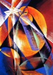 Живопись | Giacomo Balla | Mercury Passing in Front of Sun, 1914