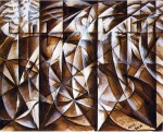 Живопись | Giacomo Balla | Velocity Of Cars And Light, 1913