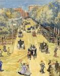 Живопись | Морис Брэзил Прендергаст | Street, Boston, 1895