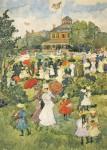 Живопись | Морис Брэзил Прендергаст | Franklin Park Boston, 1895-98
