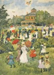 Живопись | Maurice Prendergast | Franklin Park Boston, 1895-98