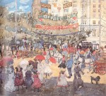 Живопись | Maurice Prendergast | Madison Square, 1901