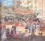 Живопись | Морис Брэзил Прендергаст | Madison Square, 1901