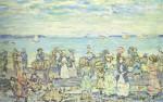 Живопись | Морис Брэзил Прендергаст | Opal Sea, 1903-10