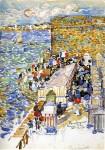 Живопись | Морис Брэзил Прендергаст | Rising Tide, St. Malo, 1907