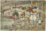 Живопись | Морис Брэзил Прендергаст | Umbrellas In The Rain, 1898-99