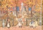 Живопись | Морис Брэзил Прендергаст | West Church Boston, 1900-01